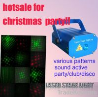 8 laser patterns/sound active/mental box laser stage light
