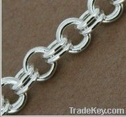 sterling silver loose double cable chains