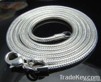 steling silver round snake chains