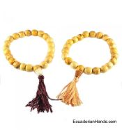Japa Mala Bracelet 21ct palosanto prayer beads (1 unit)