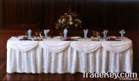 table skirting for wedding ceremony