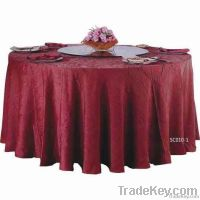 round burgundy table cloth for banquet table decoration and protection