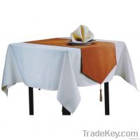 Square table cloth for western table use mainly in white color