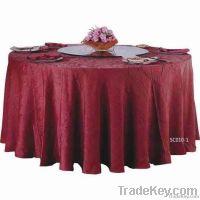 Burgundy royal luxury hotel table cloth