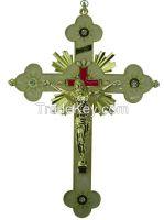 "Religious Catholic Metal Wall Crosses & Crucifixes 11"""