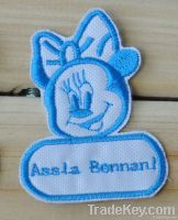 Children kids embroidered name patch custom Sew on - Minnie