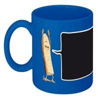 Chalk Mug, Coffee Mug, Porcelain Mug