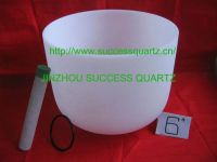 Frosted quartz crucible