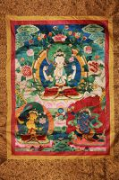 Thangka with hand silk embroidery
