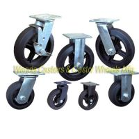Moldon Rubber Caster Wheels with Cast Iron Centers