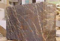 Black & Gold Marble Block