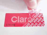 High Residue Tamper Evident Security Labels, Stickers, and Seals