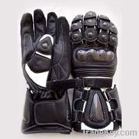 Leather Sports Racing Gloves