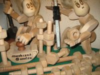 wooden toys, bolt , cap , dragon , knight, etc, joint  moving  figures