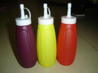 sauce bottle, barbeque sauce bottle, plastic bottle, salad oil bottle