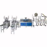 High speed ear loop 3ply non-woven disposable mask making machine
