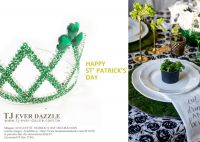 St' Patrick's Day Celebration Glittering Crown Tiara