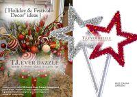 Holiday Festival Decorative Pentagon Shaped Glitter Magical Fairy Wand