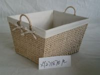 basket made of seagrass