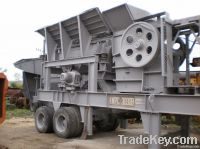 USED MOBILE STONE CRUSHING PLANT 100TPH