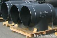 JIS B2312 carbon steel seamless tee