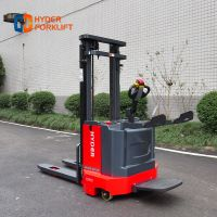 Hyder factory 1.5ton 2.0ton 3m- 5.5m mast standing warehouse AC motor curtis electric forklift pallet stacker with EPS