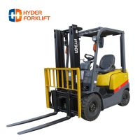2ton diesel forklift truck with container mast and attachment