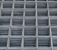 Welded wire mesh for concrete reinforcement,  ribbed and plain steel