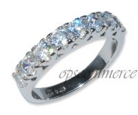 A high quality cubic zirconia collection WITH rhodium finished