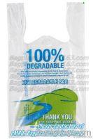 Corn starch bags, sacks, Compostable, OXO-BIODEGRADABLE, Biodegradable