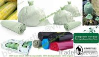 Biodegradable, Corn starch, Compostable, Refuse sacks, Bin liners