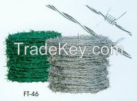 Hot dipped /Electrical galvanized barbed wire for Railway guardrail