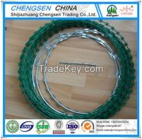 hot dipped Galvanized Razor barbed Wire for sales Professional manufac