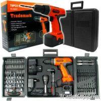 78 Pc 18 Volt Cordless Drill Set many extra