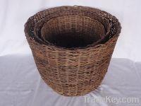Rattan waste Bin Basket
