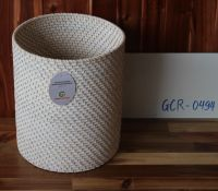 White washed rattan basket