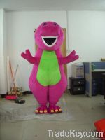 custom made barney adult bear mascot costume