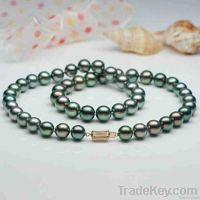 9-10mm A1AAA black pearl necklaces