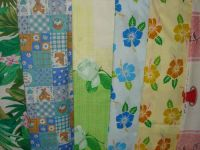 printed fabric , t/c , cotton printed, dyed, white