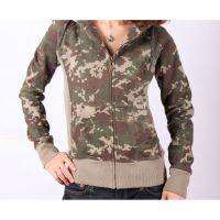New Arrival Ladies hemp cotton Long sleeves Camouflage Hoodies Jackets W