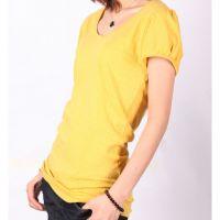 2013 New Girls Short sleeves orange 100% cotton T-shirts S