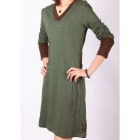 New Womens V-neck Stripped Long sleeves Spring and Autumn Skirts O