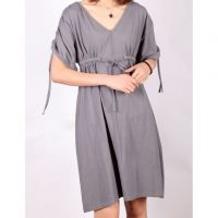 Sell New Arrival Womens Grey adjustable Lace-up Top L