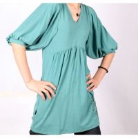 2013 New Arrival Womens Long-sleeves blue O-neck Tops H