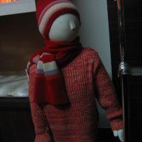 Hot sales Winter kids red warm thicken sweaters 1270