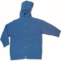 Fashion 100% cashmere winter children sweaters with hoodies 1169