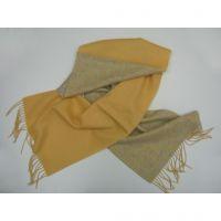 NWT Yellow grey lambswool long scarf Y-09009