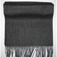 Sell men dark grey lambswool scarf Y-09118B
