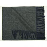 100% cashmere soft long scarf black fringes Y-09117