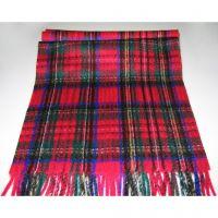 Wool children's winter warm red stripped scarf Y-09326